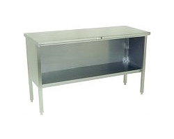 140-1 - Stainless Steel Enclosed Base Work Table