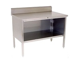 140-3 - Stainless Steel Enclosed Base Work Table w/ Riser