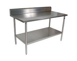 S14RG - Stainless Steel Work Table w/ Riser