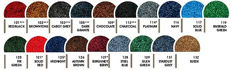 Stylist & Tri-Grip Floor Mats Colors