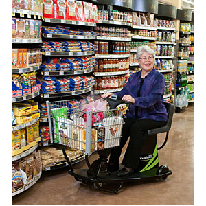 Value Shopper Motorized Handicap Cart In Use