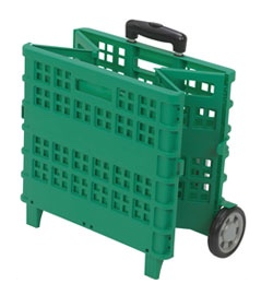 Practik Basket With Wheels - folded up