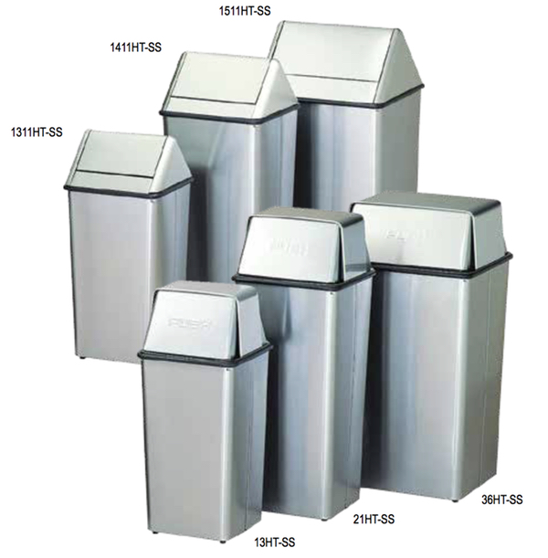 Waste Watchers Stainless Steel Trash Receptacles