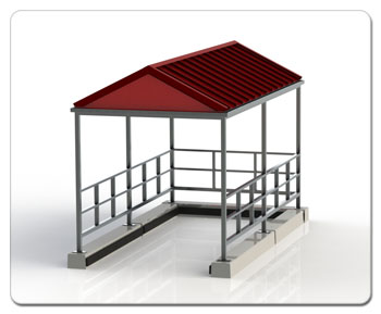 Metal Standing Seam Gable Roof Corral