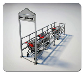 Single Wide Cart Corral