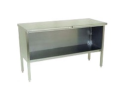 160-1 - Stainless Steel Enclosed Base Work Table
