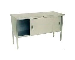 160-2 - Stainless Steel Enclosed Based Work Table