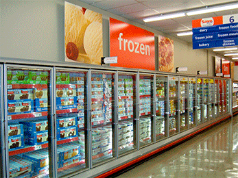 Reach In frozen food and ice cream coolers