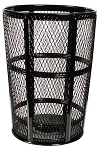Expanded Metal Trash Receptacles