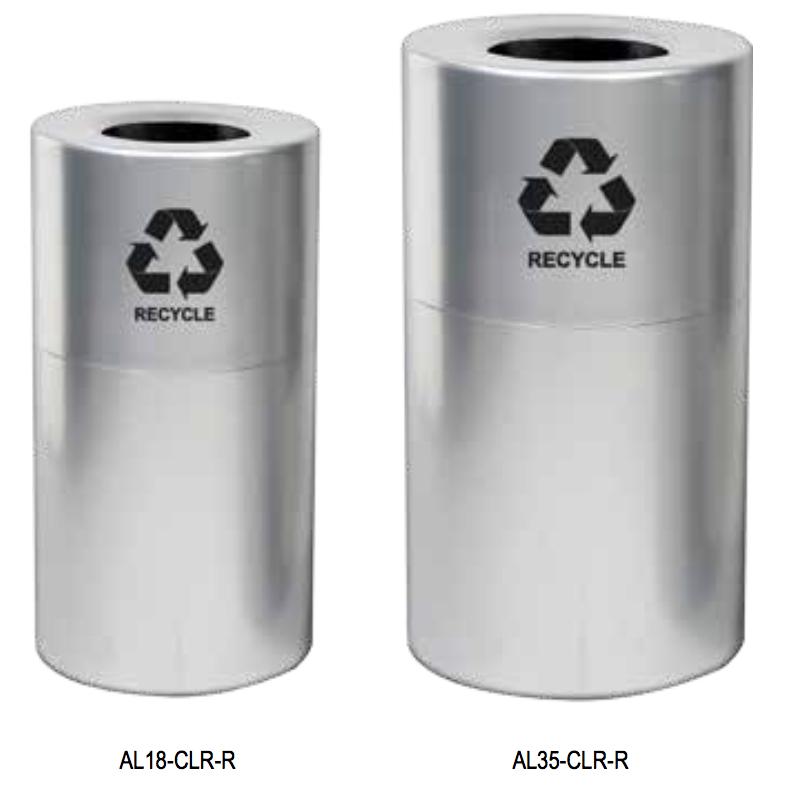 Aluminum Recycling Receptacles