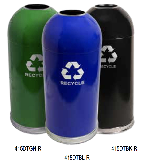 Dome Top Recycling Receptacles