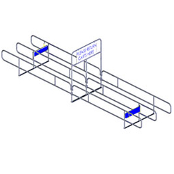 721 Series Bi-Directional Cart Corral