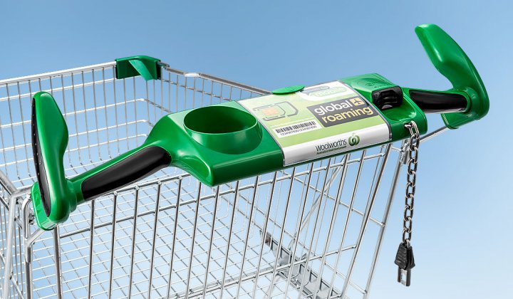 Coin deposit system on shopping cart