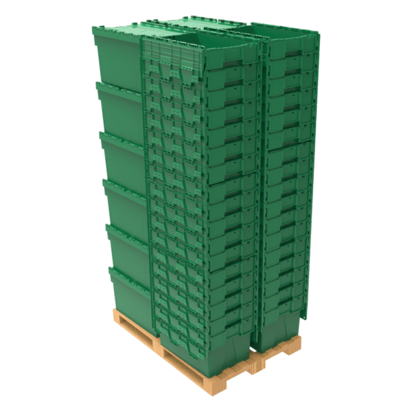 Helios stacked on a pallet